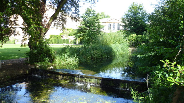 Part of the gardens of Worcester College, Oxford