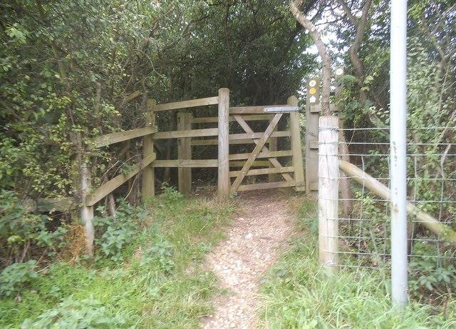 Path entrance on Smug Oak Lane