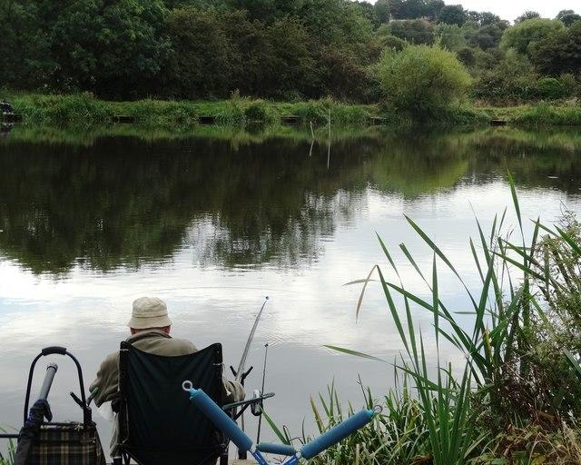 Fishing pond at Smithy Green