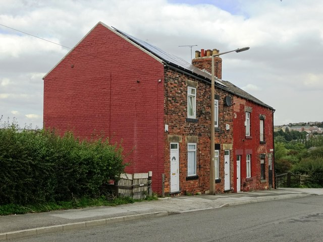 Terraced houses on Smithies Lane, Barnsley