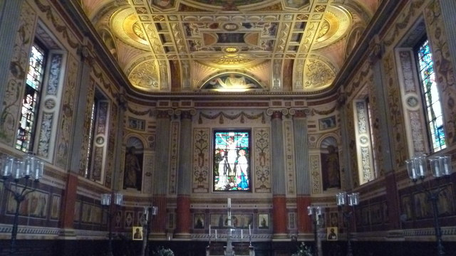 Inside the chapel of Worcester College, Oxford