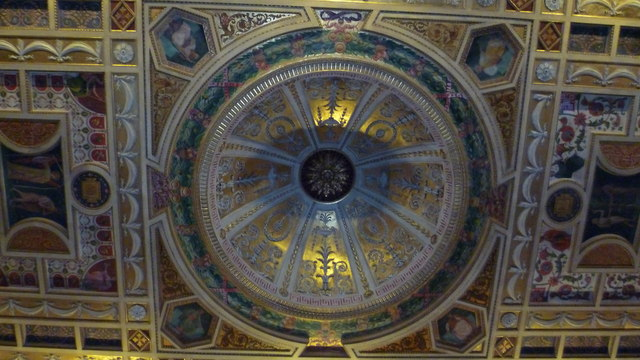 The chapel ceiling, Worcester College, Oxford
