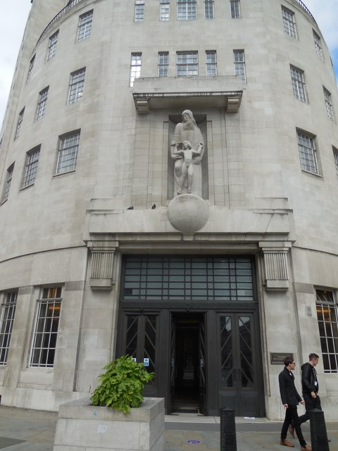 Entrance to BBC Broadcasting House