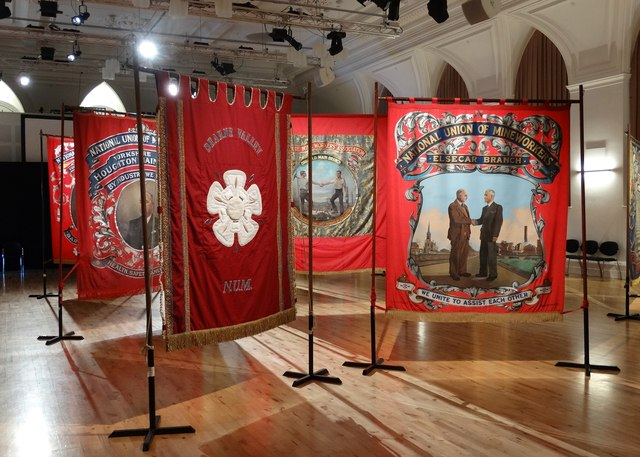 NUM Banners Exhibition at Barnsley Civic Theatre