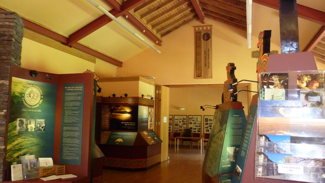 Inside the Offa's Dyke Visitor Centre in Knighton