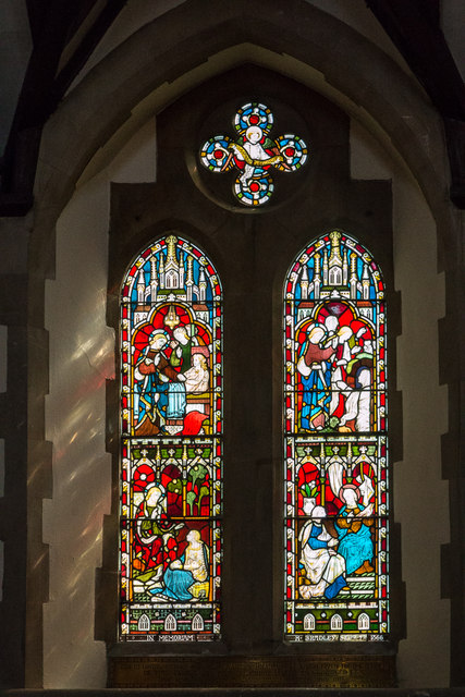 Stained Glass Window, Christchurch, Waterfall Road, Southgate, London N14
