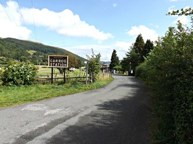 Entrance to Carrog Station