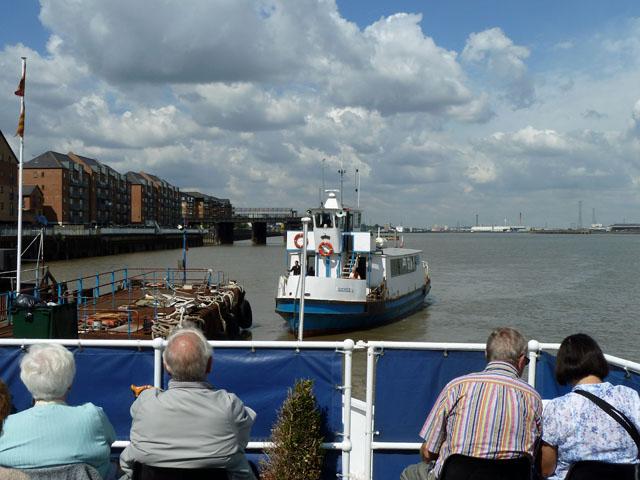 Ferry leaving pier, Gravesend