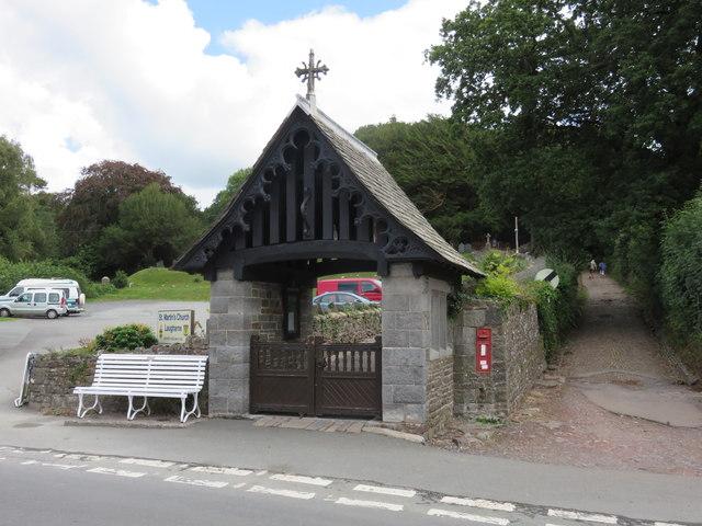 Lychgate, St Martin's Church, Laugharne