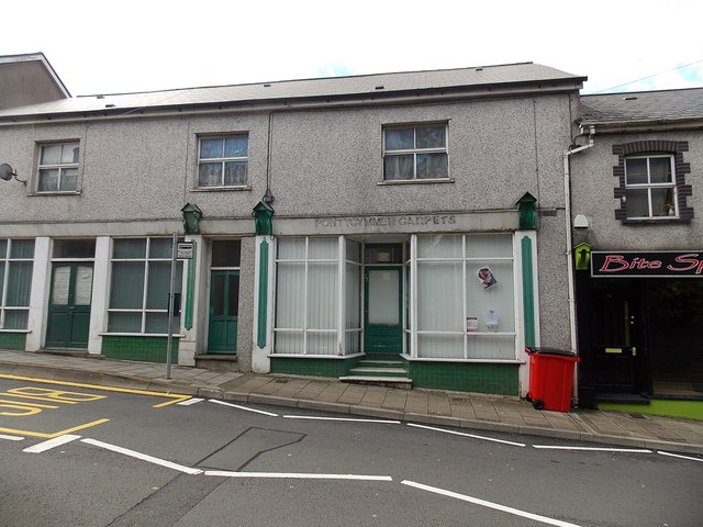 Ghost of a shop name in Oxford Street, Pontycymer