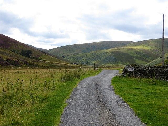 End of the public road in Glenkirk