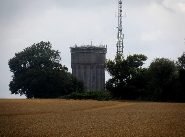Sibton water tower and telecom mast