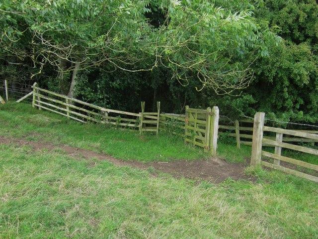 Stile into woodland