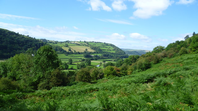 View over part of the Teme valley near Knighton
