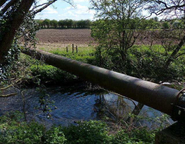 Pipeline crossing Rothley Brook
