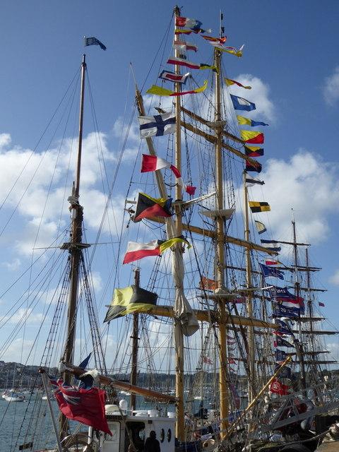 The tall ship 'Tenacious'