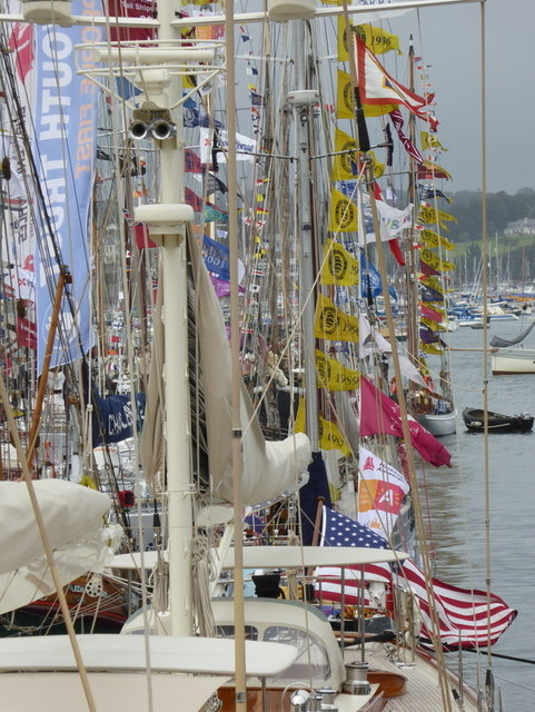 Yachts dressed overallfor the Tall Ships Festival 2014
