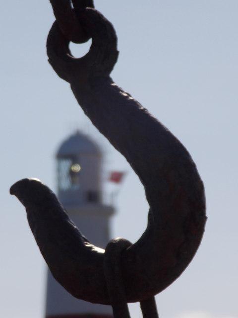 Bill of Portland: detail of an old crane's hook