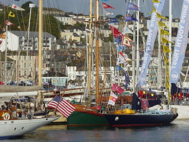 Luxury yachts in Pendennis Marina