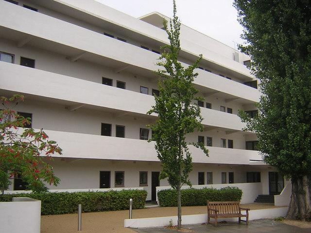 Isokon flats, Lawn Road, NW3