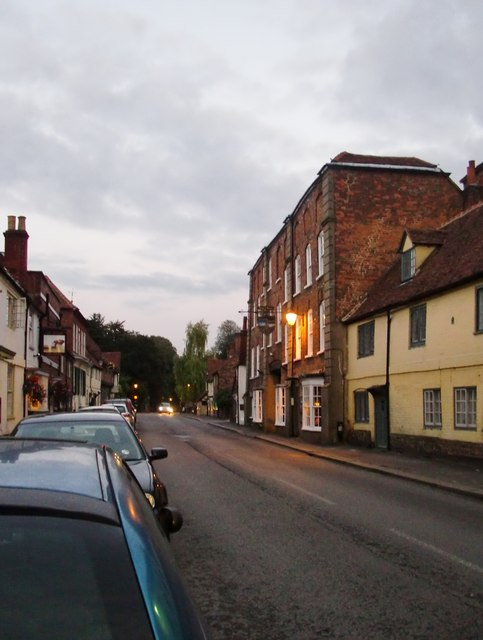 West Wycombe High Street at dusk