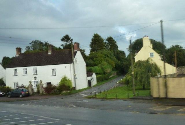 Minor road junction at Woolaston