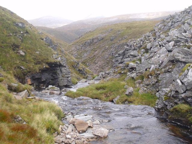 Downstream on Caochan Dubh in the Eidart system, Glenfeshie