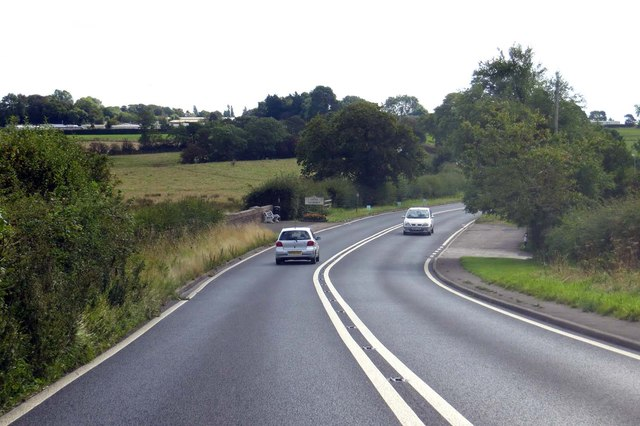 Garstang Road entering Little Ecclestone