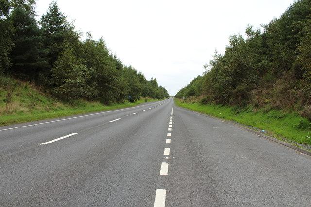 The A76 to Mauchline near Auchinleck