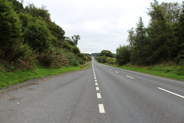 The A76 to Dumfries near Auchinleck