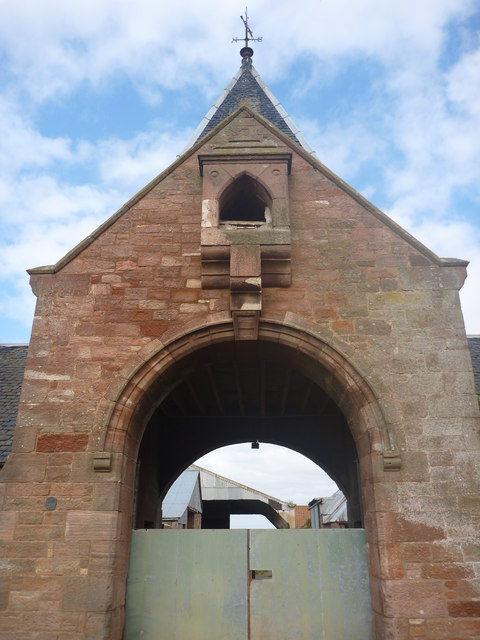 East Lothian Architecture : Central Archway, Papple Steading