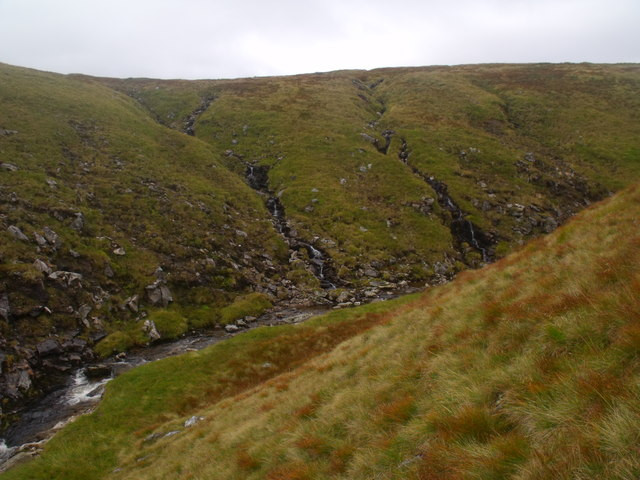 South bank of Caochan Dubh in the Eidart system, Glenfeshie