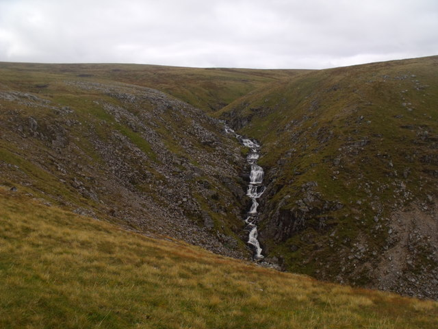 Steep section on Caochan Dubh in the Eidart system, Glenfeshie