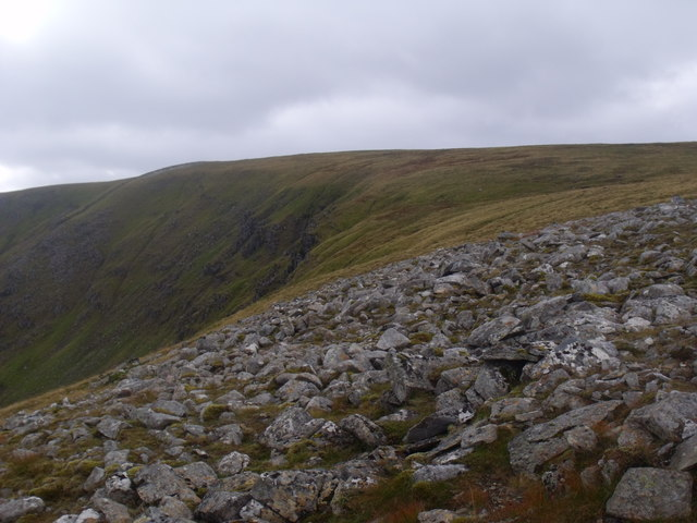 Lip of Coire Mharconaich above the Eidart system, Glenfeshie