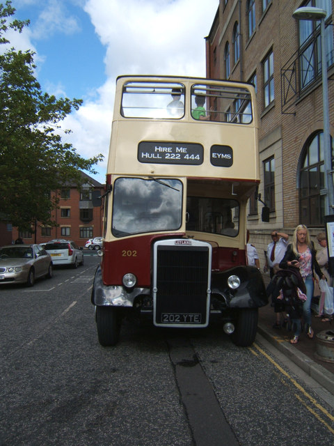 East Yorkshire Leyland Titan open top bus 202 YTE
