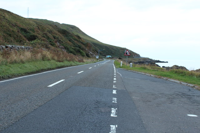 The A77 to Stranraer at Kennedy's Pass