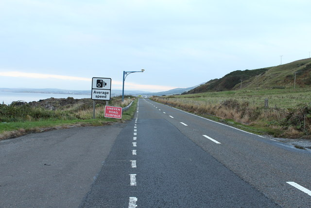 The A77 to Girvan near Kennedy's Pass