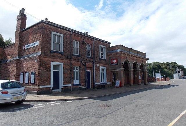 Melton Mowbray railway station entrance