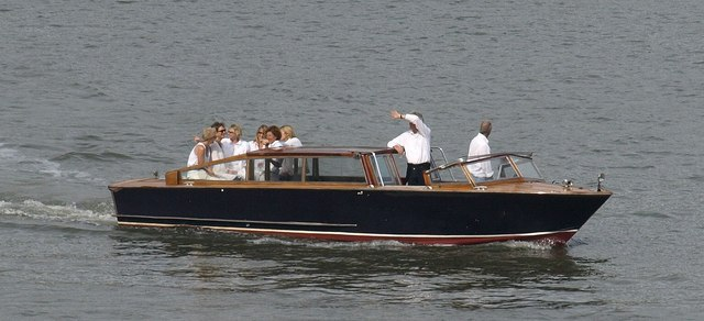 Venetian water taxi, Dartmouth Regatta