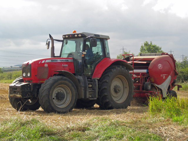 Baling near Barrow Wold Farm