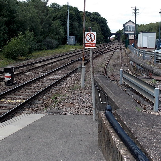 West towards the signalbox, Melton Mowbray