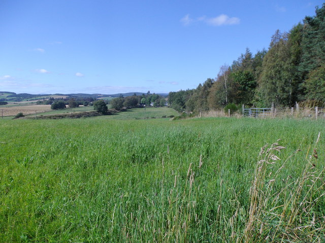 Former railway embankment near Torphins