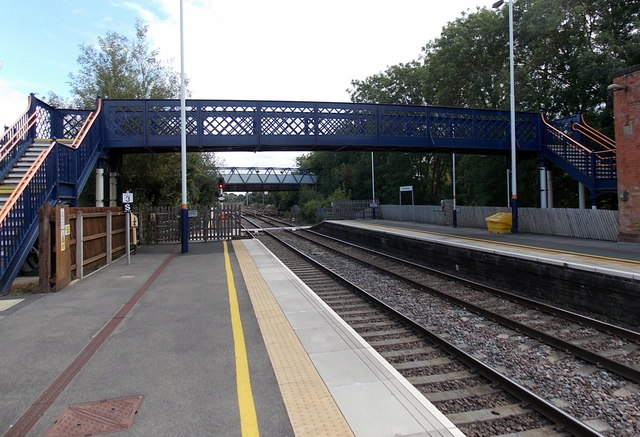 Melton Mowbray railway station footbridge