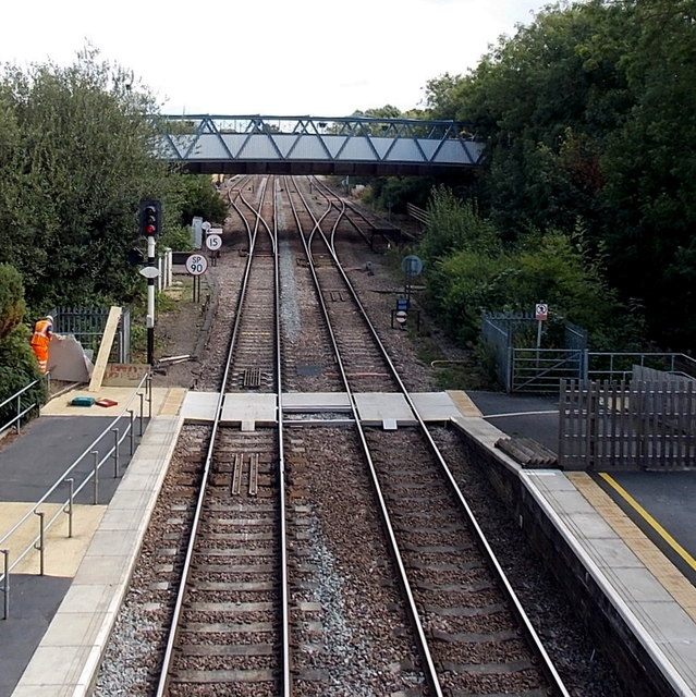 Footbridge east of Melton Mowbray railway station