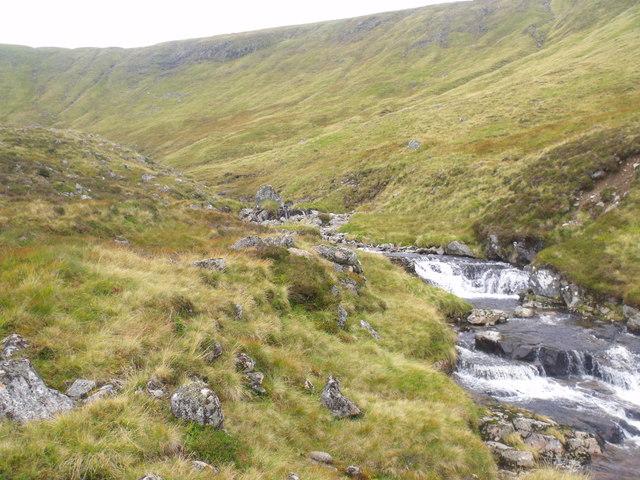 Caochan Dubh upstream of 'pot'