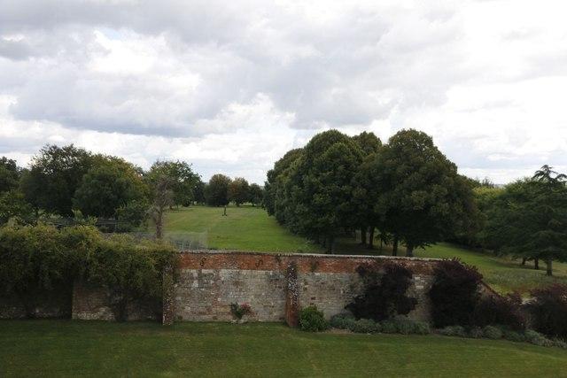 Parkland beyond the walls