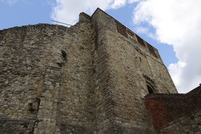 Looking up from the Moat