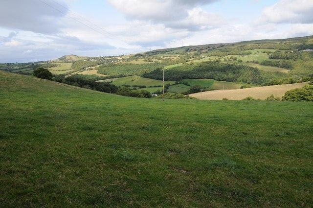 Farmland near Eglwysbach