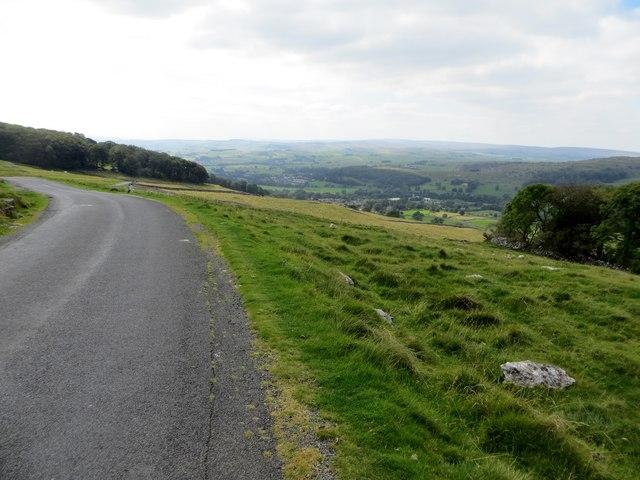 Moorland road near Cow Close