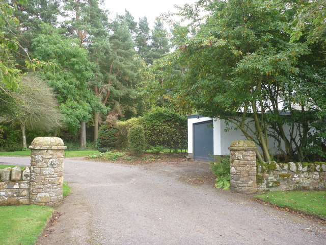 Rural East Lothian : Gateway To Baro House, Near Gifford